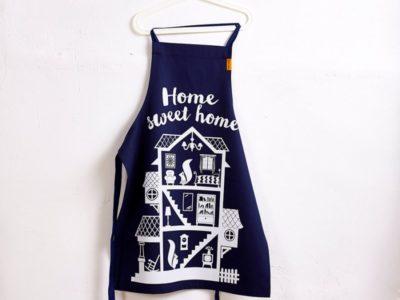 Кухонный фартук Home sweet home синий