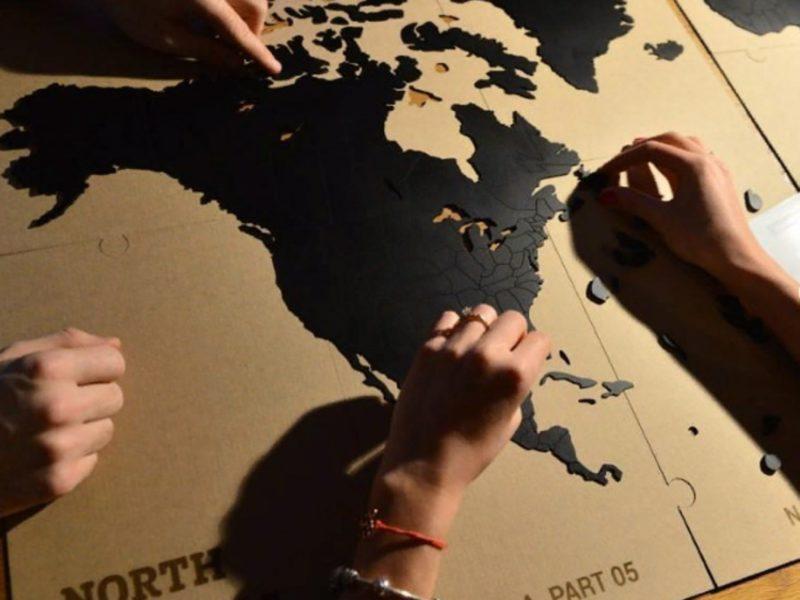 Карта-пазл World Map True Puzzle