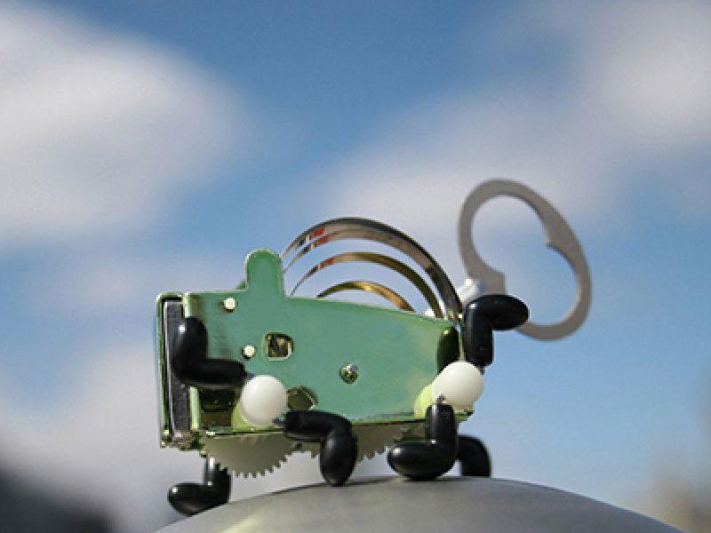 Механическая металлическая игрушка Pea