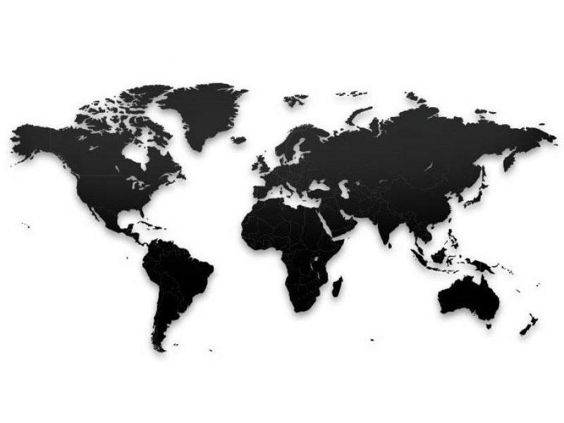 Реалистичный пазл мира True World Puzzle Black