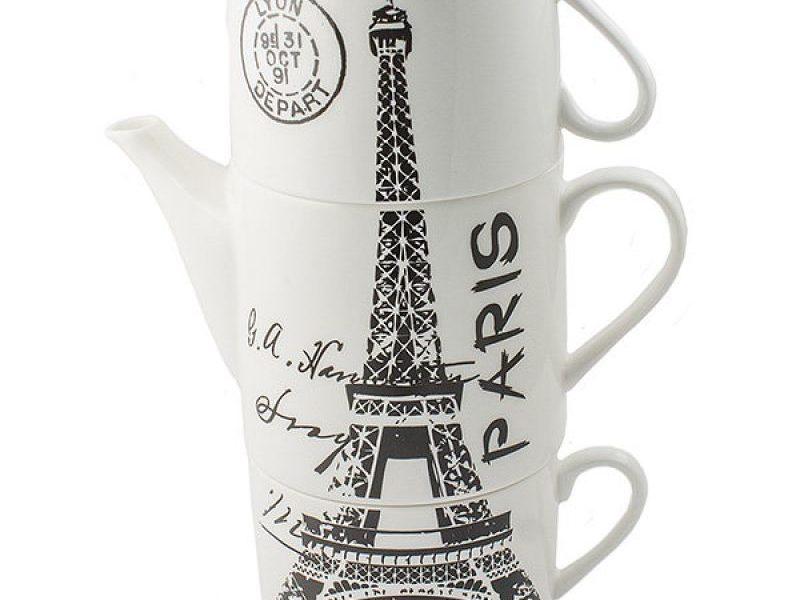 Чайник с 2 кружками Paris