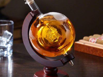 Штоф для крепких напитков Globe с Кораблём XL (стекло)