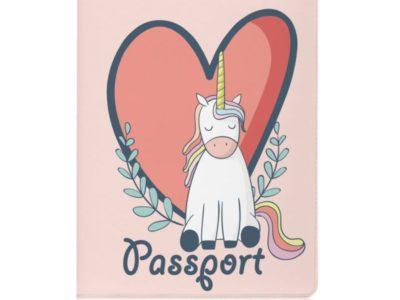 Обложка для паспорта Единорожка Love