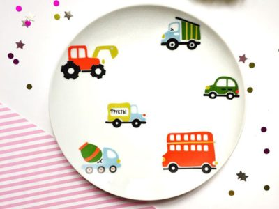 Фарфоровая тарелка Машинки Sans Brides