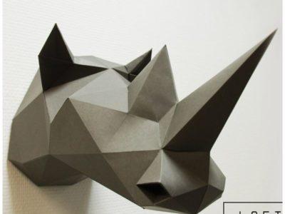 Набор для сборки декоративной модели Носорог