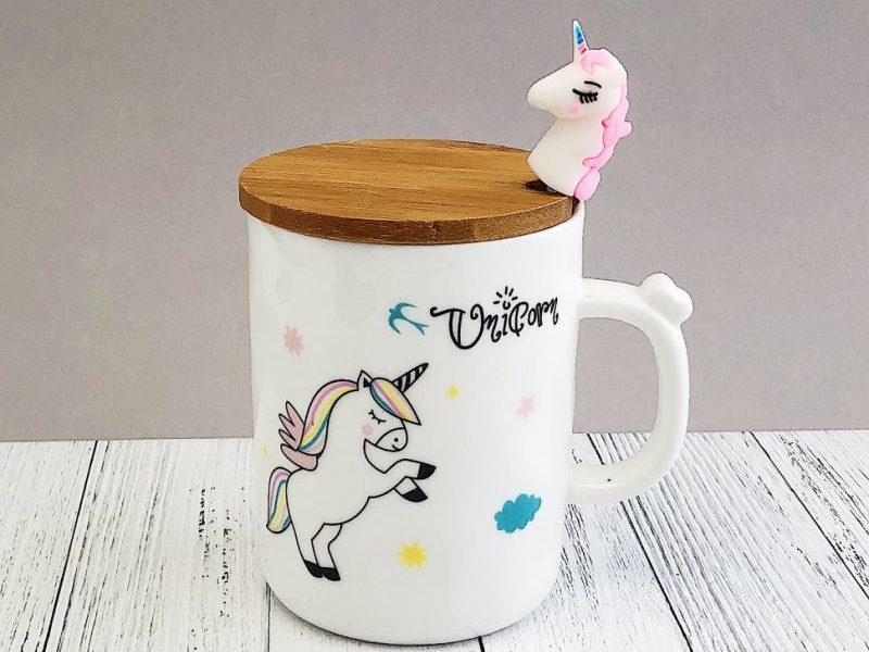 Кружка с крышкой Unicorn Walking