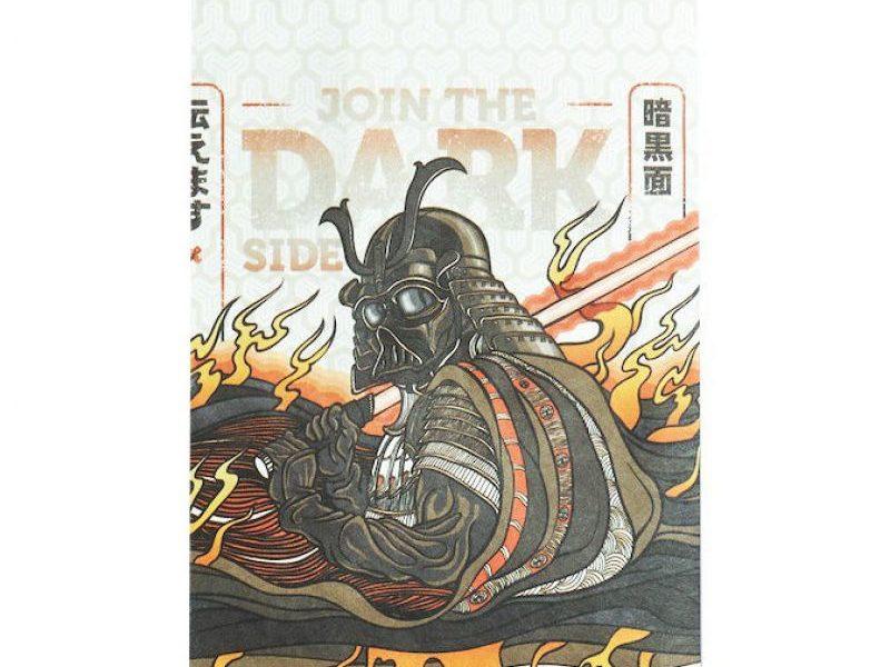 Обложка на паспорт New Wallet Darkside (материал Tyvek)