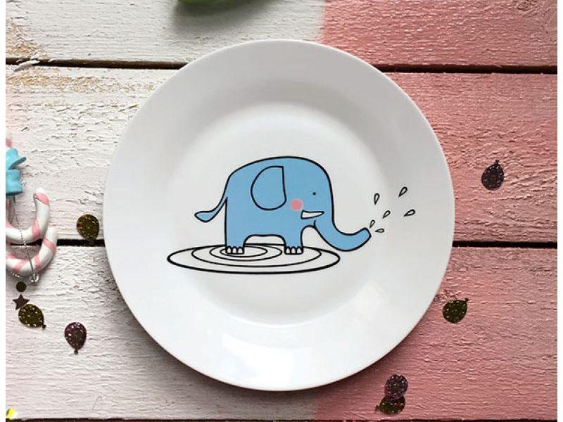 Фарфоровая тарелка Слон Бубон