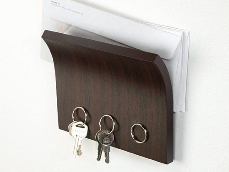 Держатель для ключей и писем Magnetter темный