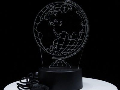 3D светильник Глобус (3 цвета)