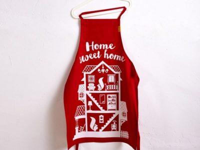 Кухонный фартук Home sweet home красный