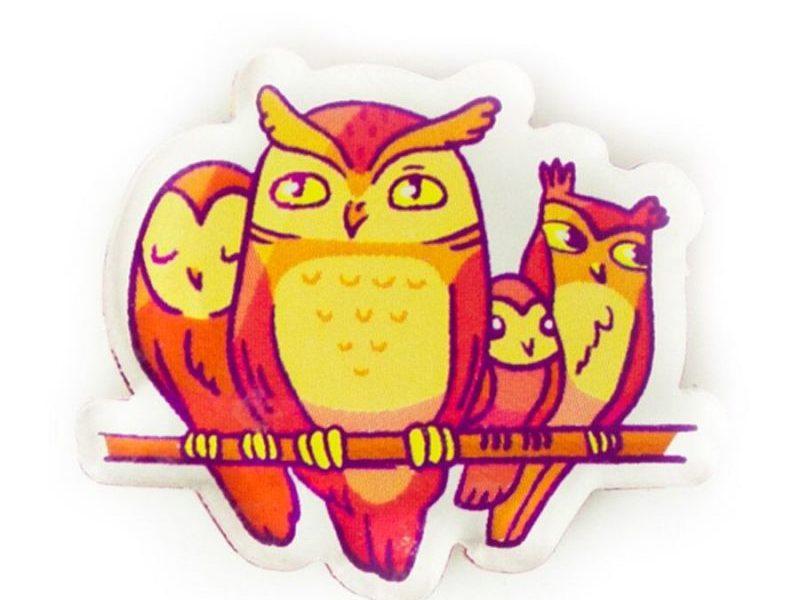 Значок Markov Design Семейство красных сов