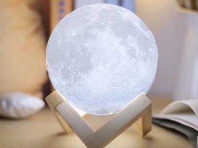 Сенсорный светильник Луна на аккумуляторе M 10 см