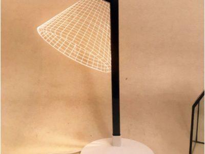 3D светильник Лампа на деревянной подставке