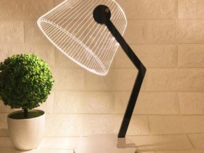 3D светильник на деревянной подставке Пиксар