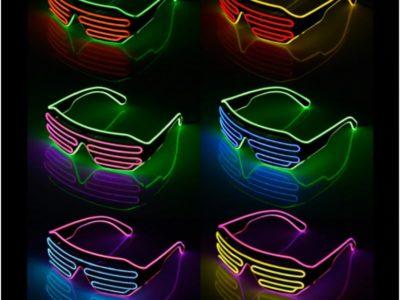 Светящиеся LED очки Жалюзи