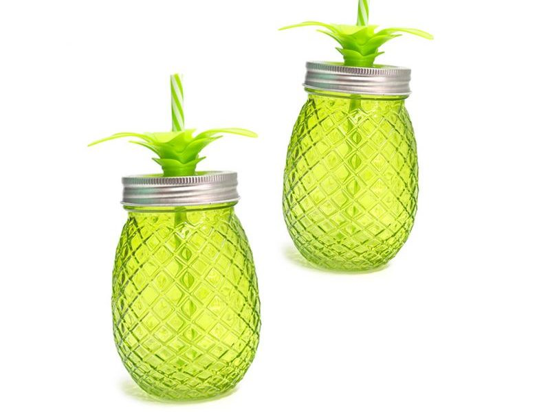 Набор стаканов с крышкой и трубочкой Tropico