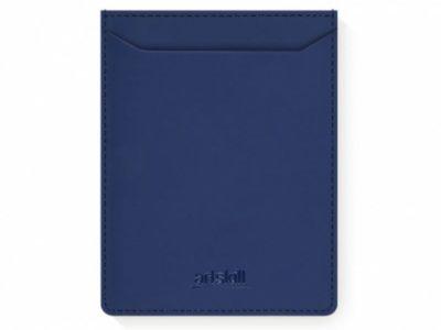 Artskilltouch ультратонкий кожаный картхолдер для автодокументов синий