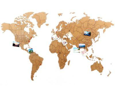 Реалистичный пазл мира True World Puzzle Brown XL