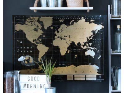 Truemap Black - черная скретч карта мира Deluxe