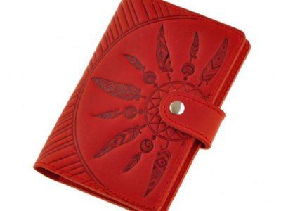 Обложка на паспорт 3.0 Ловец снов Коралл