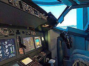 Полет на авиатренажёре