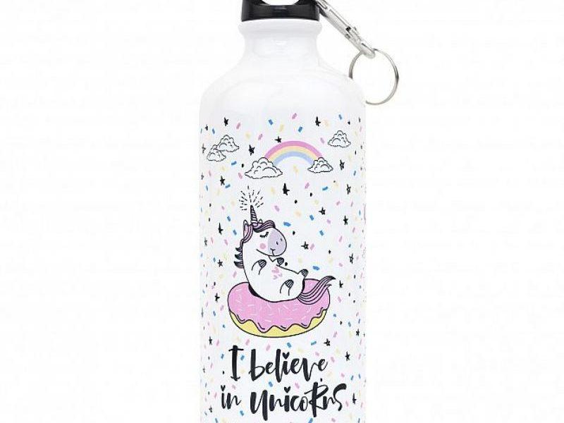 Металлическая бутылка с крышкой Unicorn
