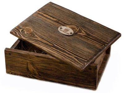 Деревянная бутылочница Сундук