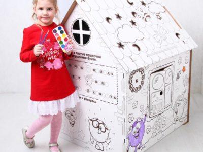 Дом-раскраска из картона Смешарики