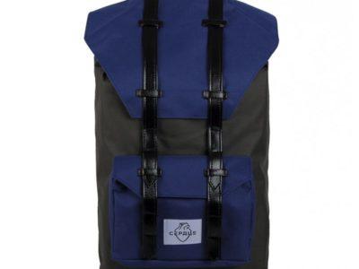 Городской рюкзак Сердце большой серый с синим
