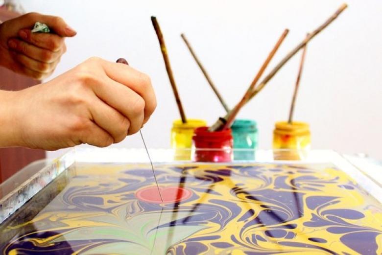 Мастер-класс по рисунку на воде (Эбру)