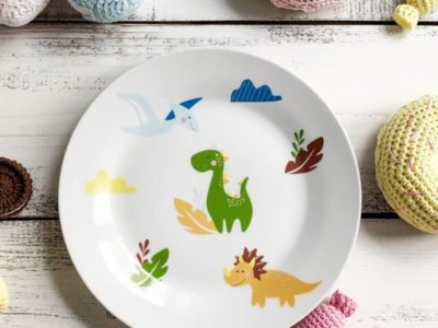 Фарфоровая тарелка Дино