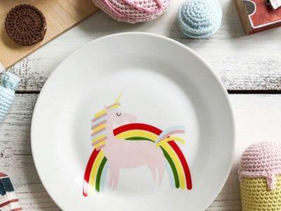 Фарфоровая тарелка Радуга