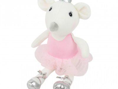 Игрушка Мышка-балерина в розовом