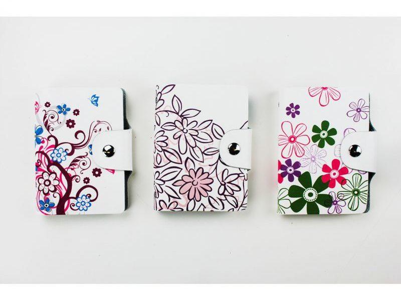 Держатель для карточек Zodiac Flowers series. Кожа.