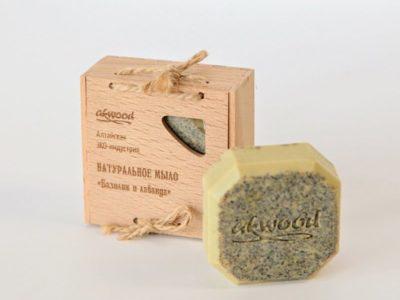 Натуральное мыло Базилик и Лаванда