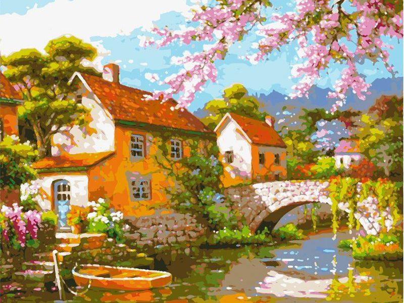 Картина по номерам Цветение сакуры