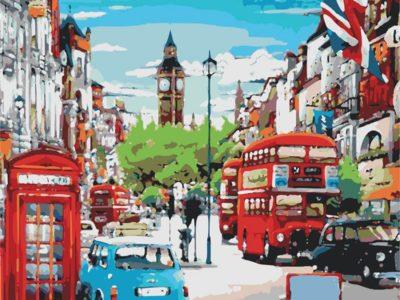 Картина по номерам Красочный Лондон