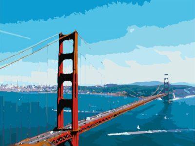 Картина по номерам Мост Золотые ворота