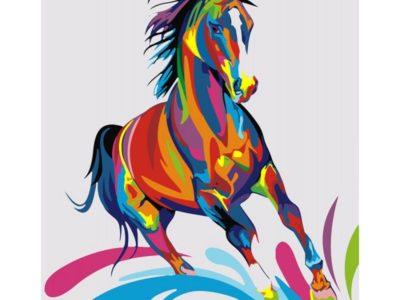 Картина по номерам Радужный конь