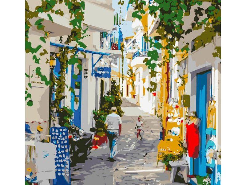 Картина по номерам Улочка в Греции
