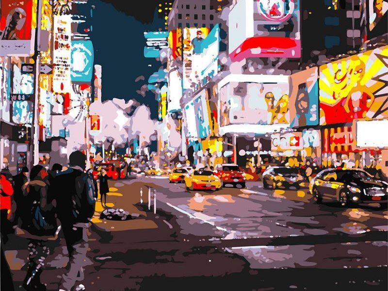 Картина по номерам Вечерний Нью-Йорк