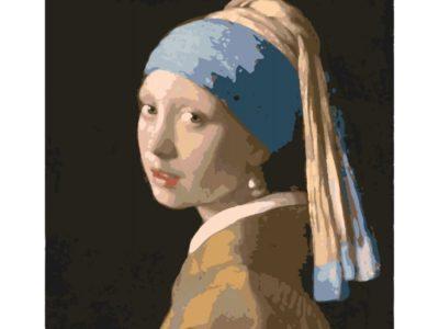 Картина по номерам Женщина с жемчужной сережкой