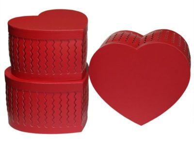 Подарочная коробка Сердце Красное