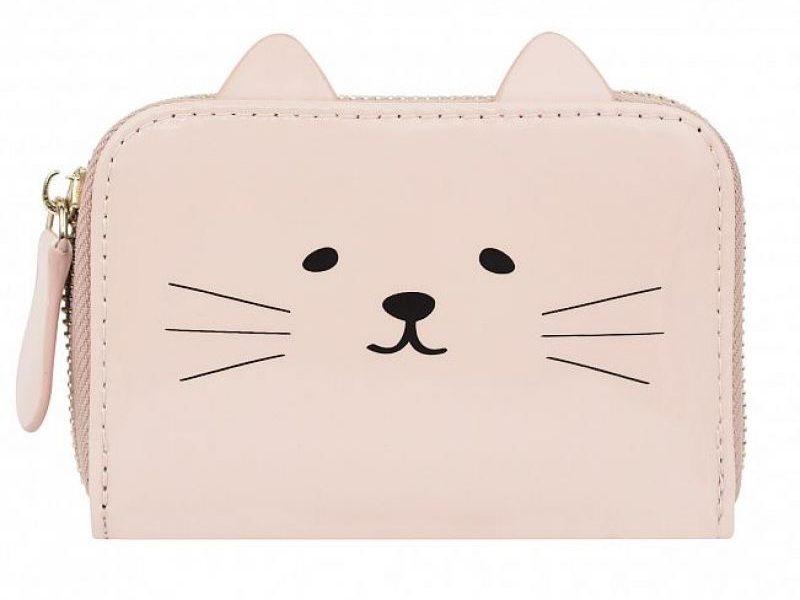 Кошелек Котик розовый