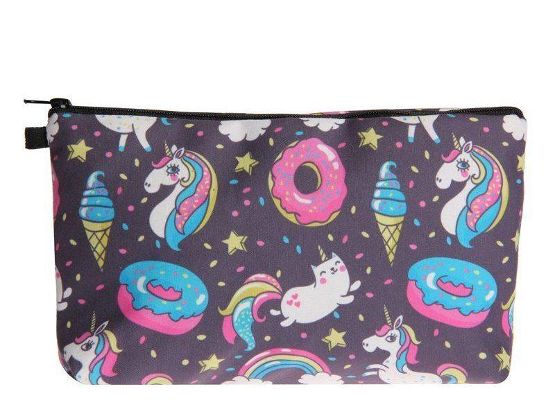 Косметичка Unicorns with ice cream and donuts