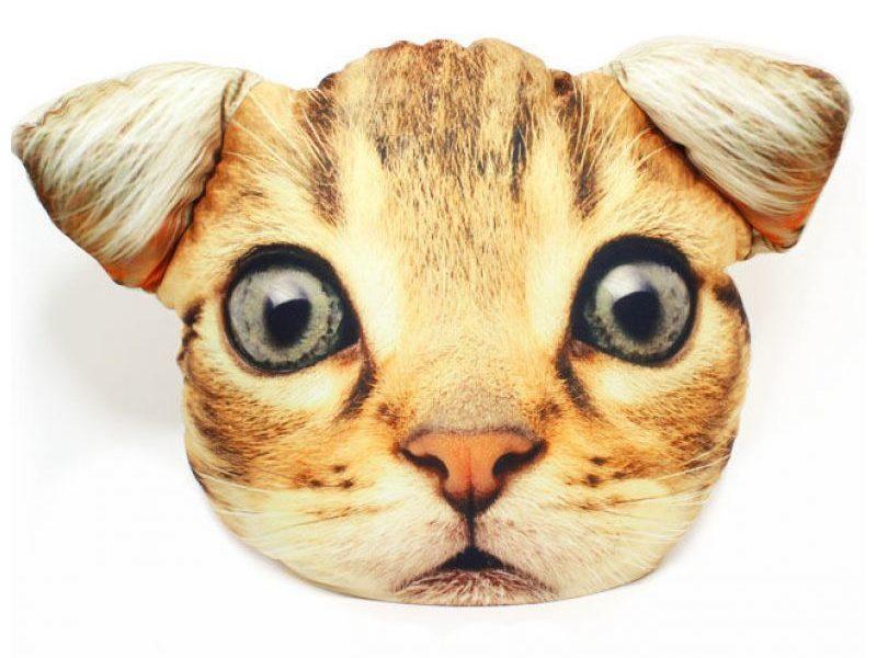 Подушка-антистресс Мордашка Рыжий котик
