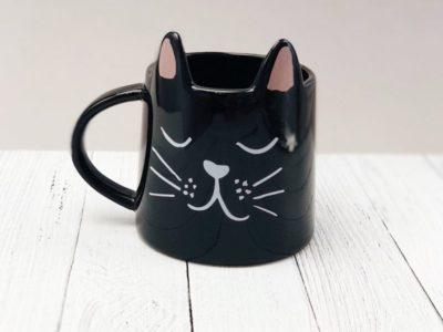 Кружка Cute cat чёрный