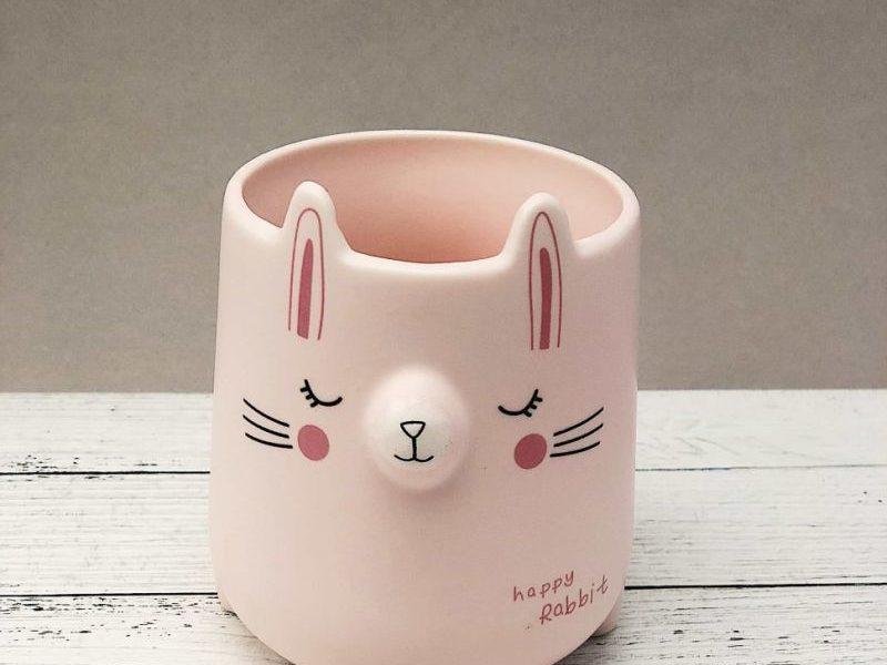 Кружка Happy rabbit розовый