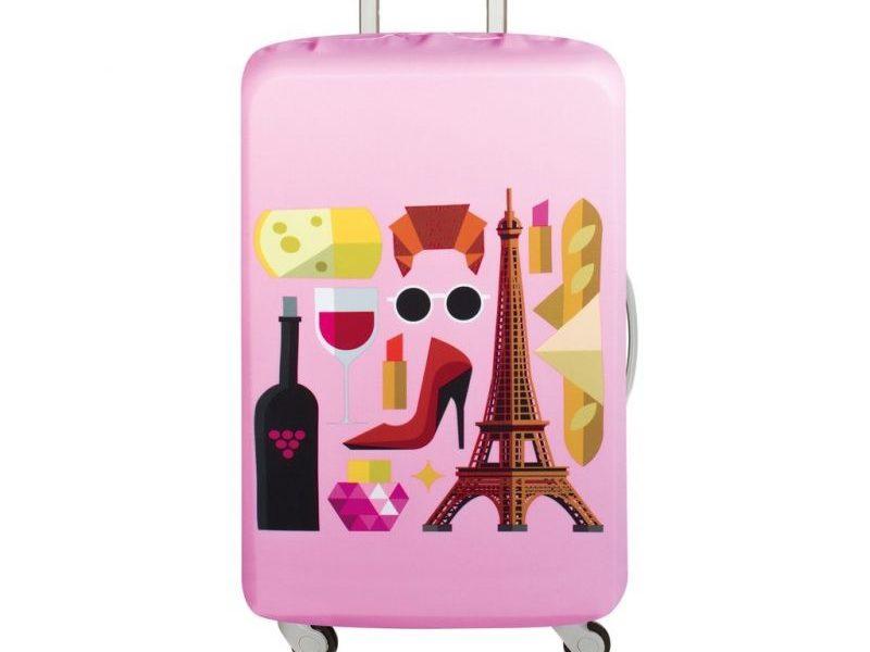 Чехол для чемодана Loqi Hey Paris M